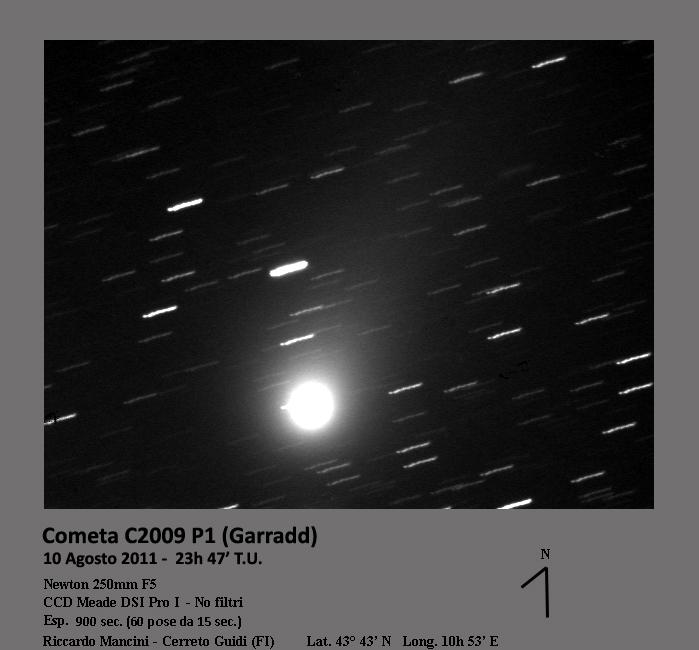 Cometa C2009P1 Garradd